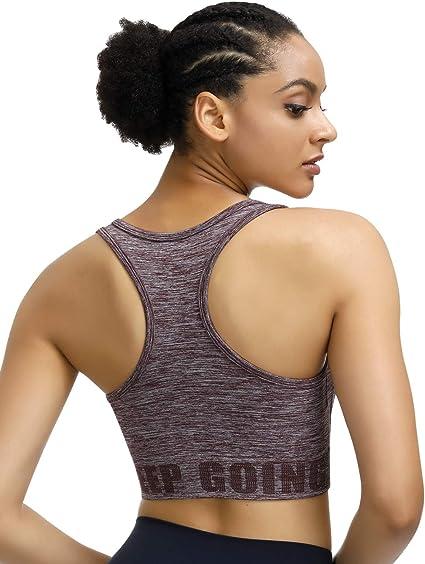 TALLA 40. Sujetador de yoga, Disbest Super Stretch Sport Bra Gimnasio Vest Tank Top con almohadillas extraíbles