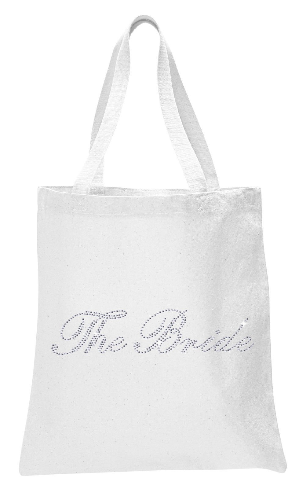 White The Bride Luxury Crystal Bride Tote bag wedding party gift bag Cotton