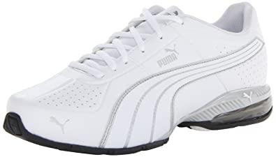 PUMA Mens Cell Surin CrossTraining ShoeWhiteWhitePUMA Silver