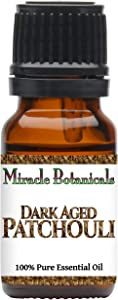 Miracle Botanicals Premium Dark Aged Patchouli Essential Oil - 100% Pure Pogostemon Cablin - Therapeutic Grade 10ml