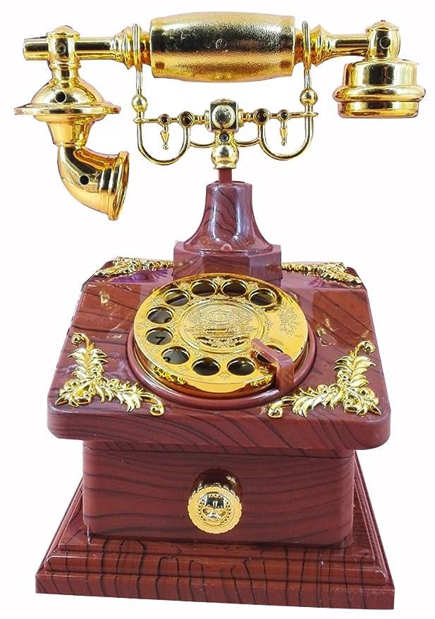 HorBous Clásico de estilo europeo a la antigua retro cosecha de talla teléfono teléfono caja de música joyero musical - 5 estilos (4): Amazon.es: Hogar