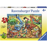 Ravensburger 09517, Construction Crew 60 Piece Puzzle for Kids, Every Piece is Unique, Pieces Fit Together Perfectly
