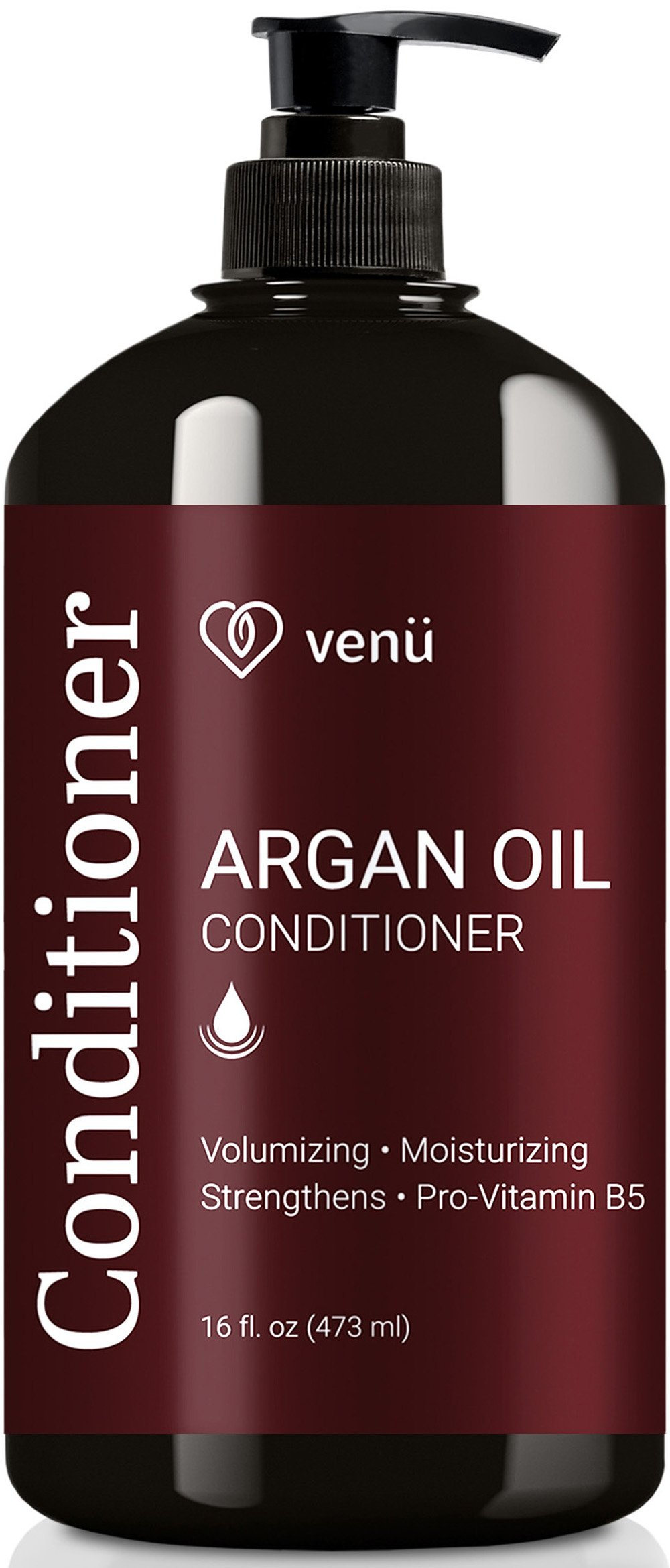 Argan Oil Conditioner - Volumizing, Hydrating and Detangling For all Hair Types - All Natural Sulfate Free Essential Oils - Safe for Color Treated, Chemically Processed and Curly Hair – by Venu