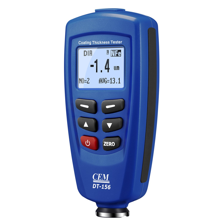 DT156  1250um CEM Paint Coating Thickness Meter Gauge Tester Auto F//NF Probes