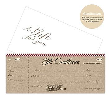 Amazon.com: Tarjetas de certificados de regalo ...