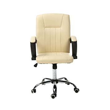 Magshion Comfortable Executive Office Chair Executive Task Home Computer Desk  Chairs (Cream)