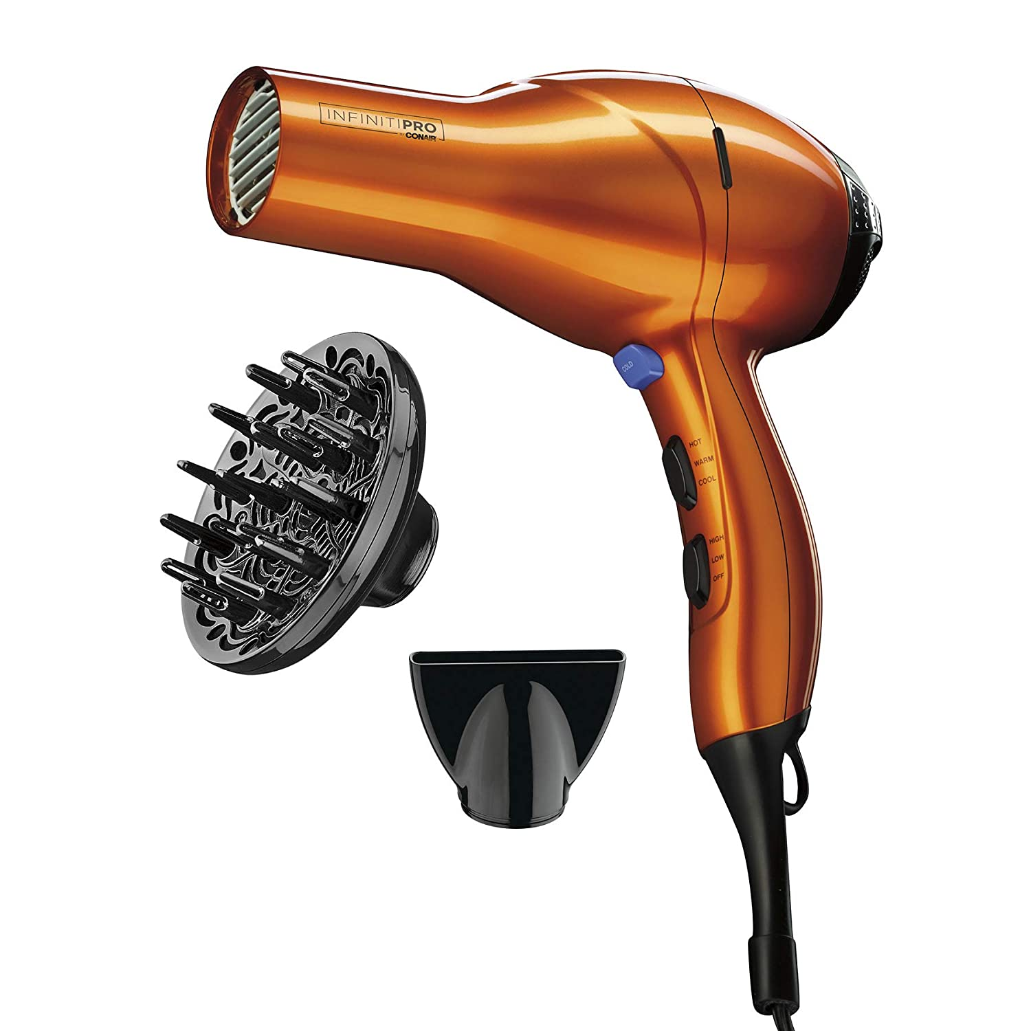 INFINITIPRO BY CONAIR 1875 Watt Salon Performance AC Motor Styling Tool Hair Dryer Orange