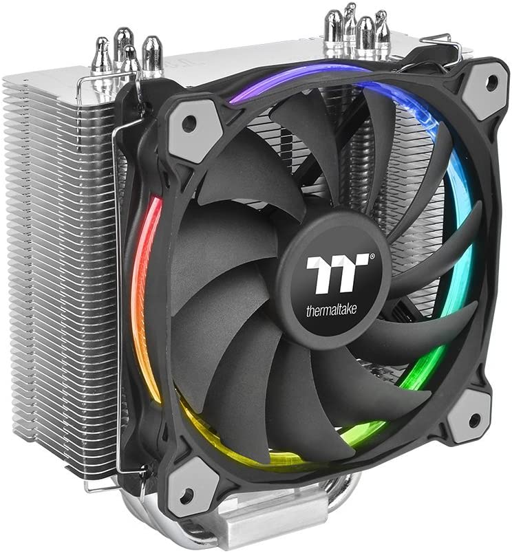Thermaltake Riing Silent 12 RGB Sync Edition - Ventilador bajo Ruido 120 mm PWM, Color Negro