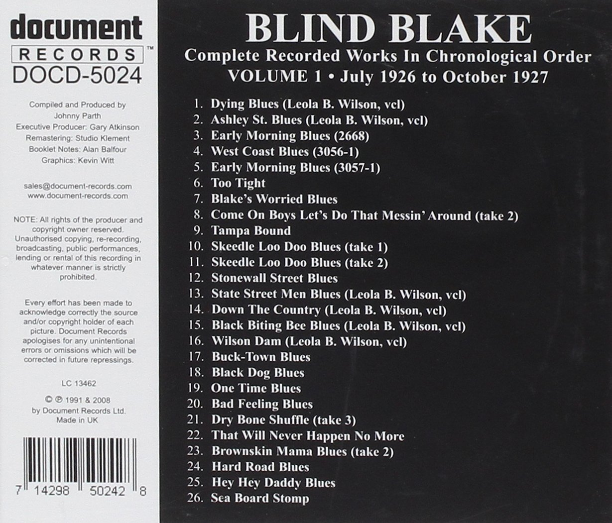Blake Blind Arthur Complete Recorded 1 Amazon Music