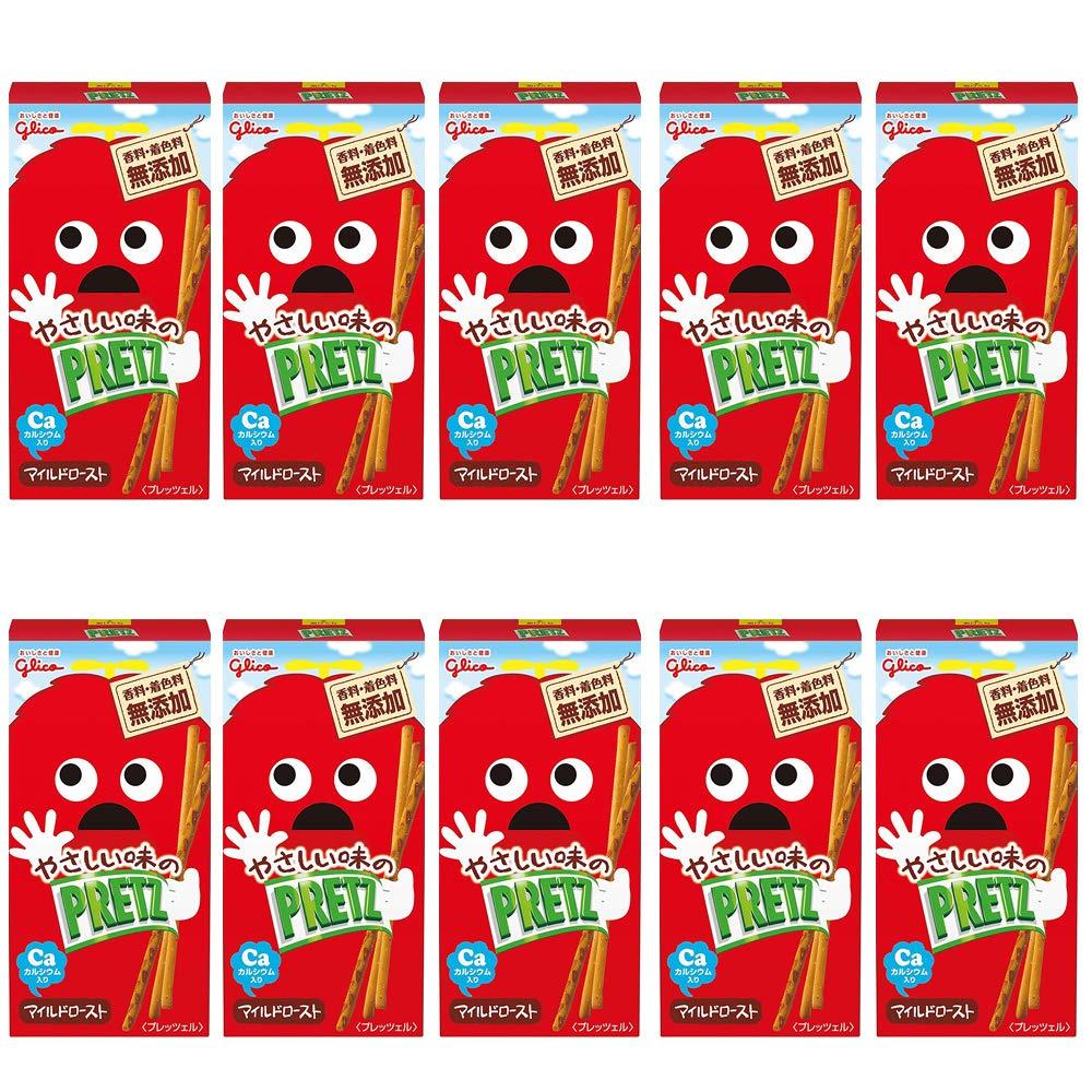 Pretz 10pcs Mild Roast Taste 0.8oz Japanese Pretzel Snack Glico NInjapo