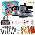 MEckily 35 Piece Kids Kitchen Pretend Play Toys