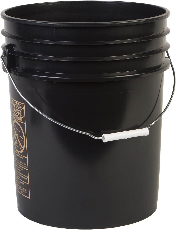 Hudson Exchange Premium 5 Gallon Bucket, HDPE, Black, 3 Pack
