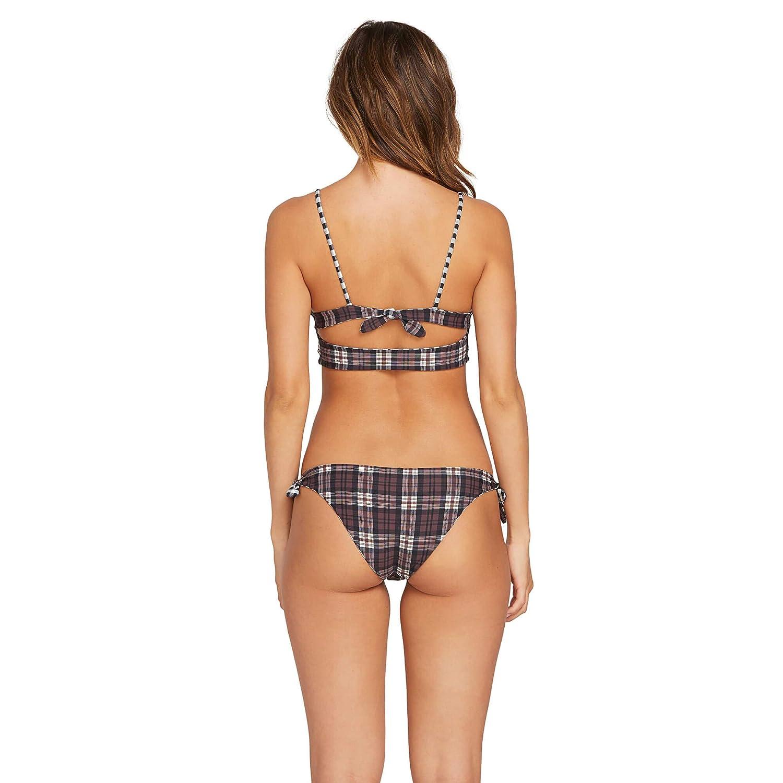 Volcom Womens Plaid Attitude Hipster Tie Side Bikini Bottom