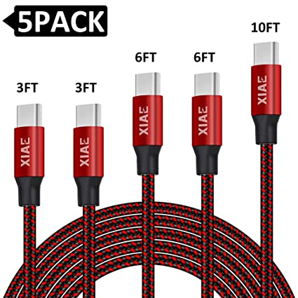 Amazon.com: Cable USB tipo C (3/3/6/6/10 pies) de nailon ...