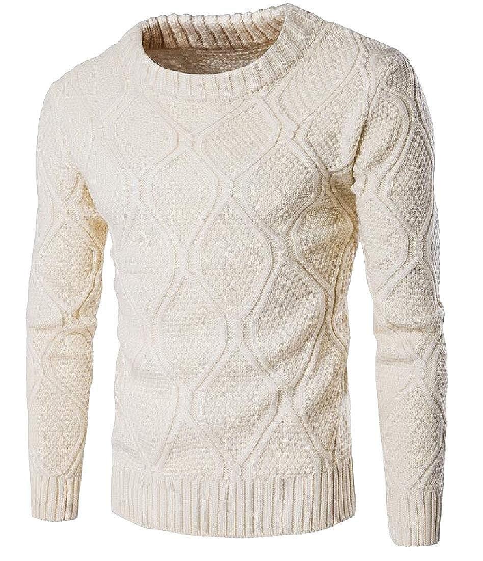WSPLYSPJY Mens Winter Round Neck Western Fall Winter Stretchy Jumper Sweater