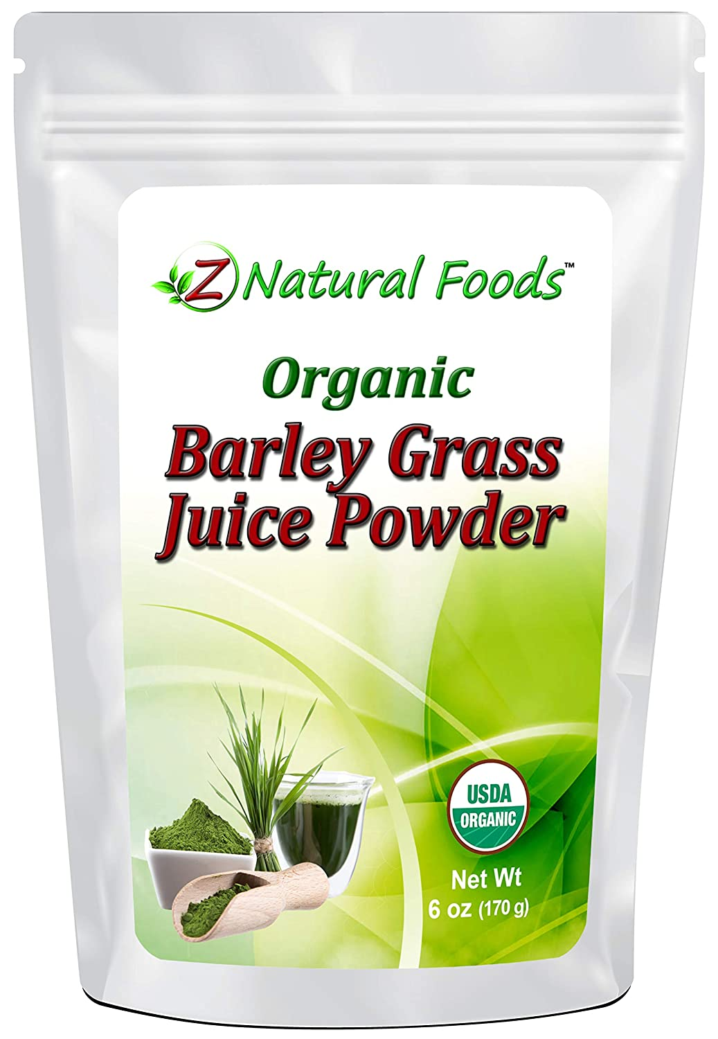 Organic Barley Grass Juice Powder - 6 oz - Amazing Green Superfood Perfect For Smoothies, Drinks, & Recipes - Rich In Vitamins, Minerals, & Antioxidants - Raw, Vegan, Non GMO, Gluten Free
