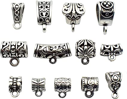 20//100PCS Silver 2019 Charm Pendants Beads For DIY Bracelet Jewelry Making Acces
