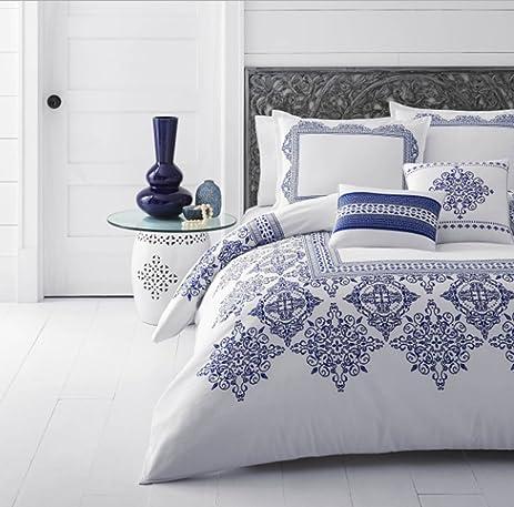 Popular Amazon.com: 5 Piece Medallion Bordered Design Comforter Set Full  KL55