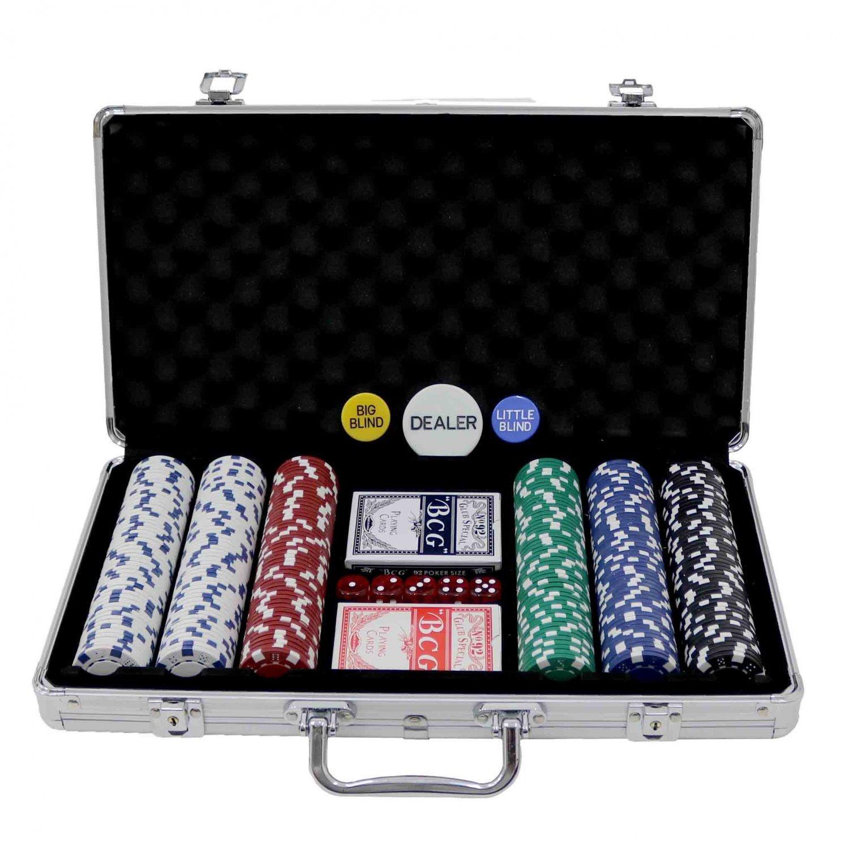Oypla Poker Set - 300 pezzo completo con il caso di stile di Casino