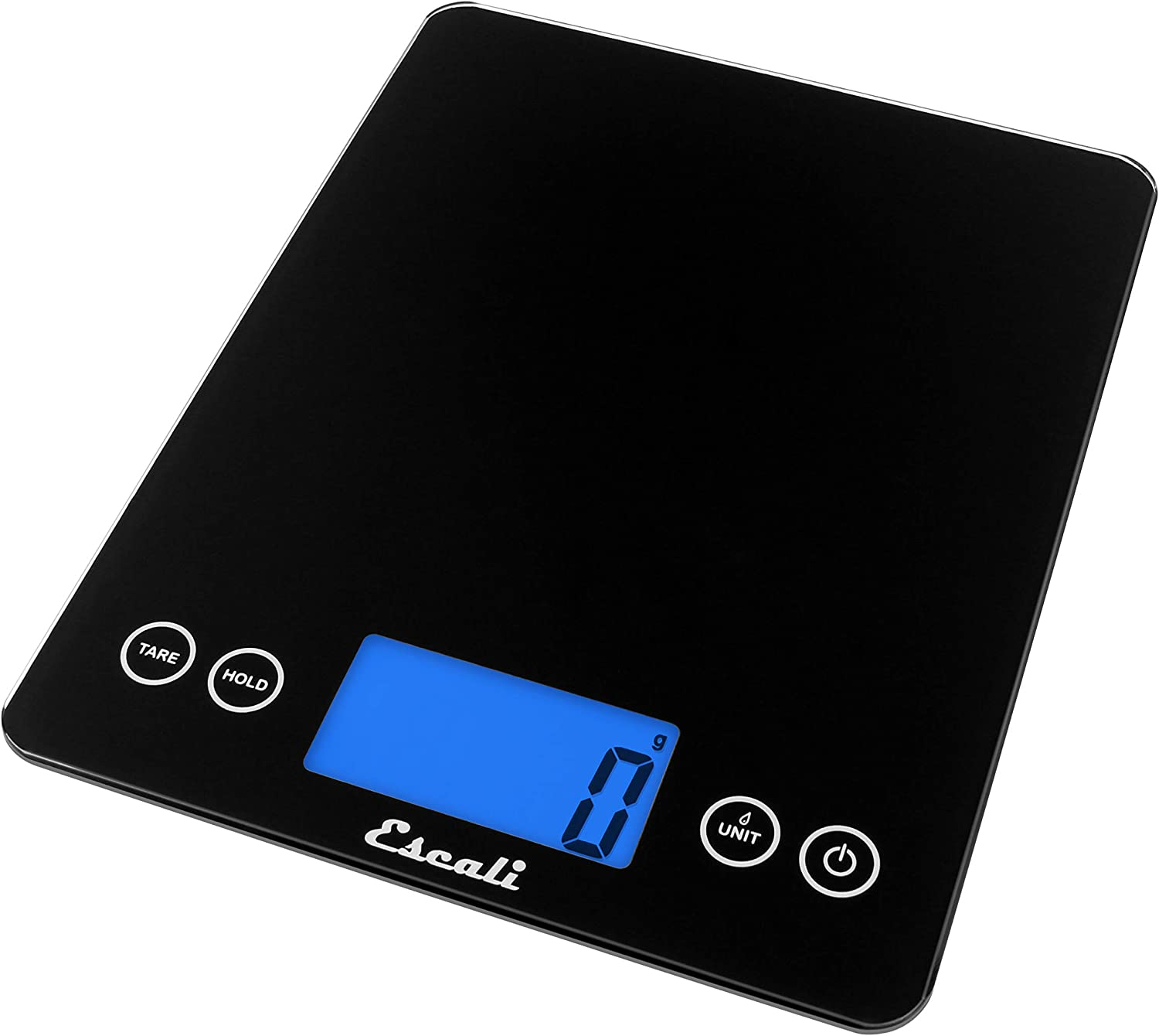 Amazon Com Escali 2210ib Artixl Extra Large Glass Digital Lcd Display Kitchen Scale Measures Liquid And Dry Ingredients Tare Function 22lb Capacity Black Kitchen Dining