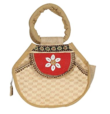 Aadriti Womens Jute Bag - Vanity Bag, Hand Bag | Bags with Zip |Womens Clutches & Wallets