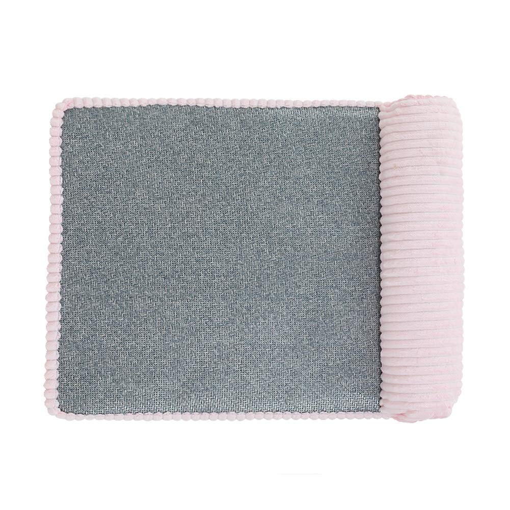 Dog Bed, Corduroy Pet Sofa Cat Bed Non-Slip Bottom Pet Recliner Self Warm and Breathable Pet Bed Premium Bedding,Pink,L by CLLX