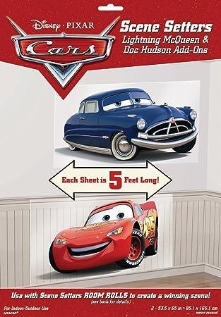 New Disney Cars 3 WALL POSTER Decoration Kit Scene Setter Birthday Supplies