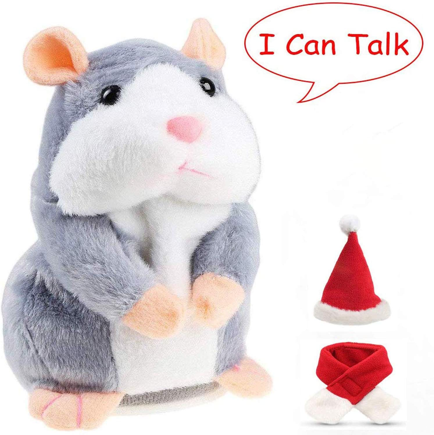 Cheeky Hamster talking mouse pet christmas toy speak sound record hamster Gift *