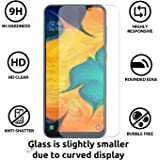 JGDWORLD (Pack of 2) 2.5D Clear HD Tempered Glass Screen Protector For Samsung Galaxy A10 (2019) Full Screen Coverage (Except Edges) With Easy Installation Kit
