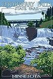Gooseberry Falls State Park - Minnesota (9x12 Art Print, Wall Decor Travel Poster)