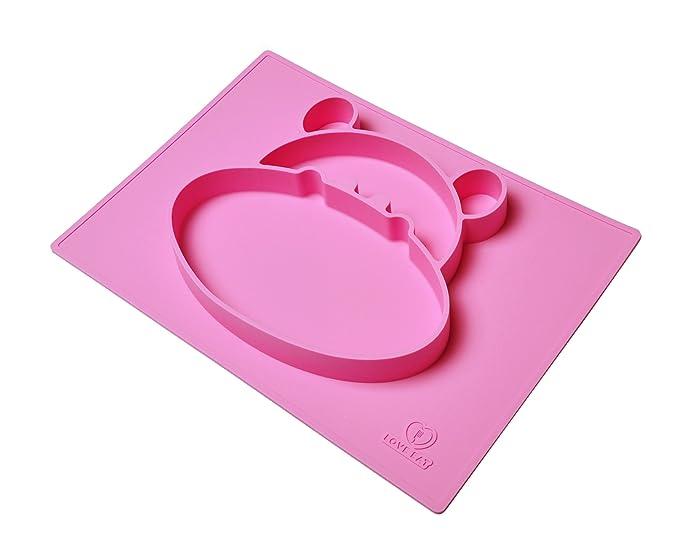 Mantel individual y placa de dividido cuenco infantil con infantil | sin problemas | bebé bowl-divided de succión coche placa para bebés | aprobado por la ...