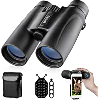 Binoculars for Adults, 10X42 Roof Prism Low Light Night Vision Lightweight Compact Binocular for Bird Watching, Hunting…