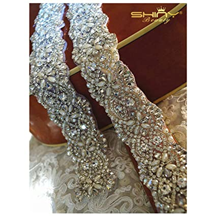 Image Unavailable. Image not available for. Color  ShiDianYi Pearl and  Rhinestone Bead Trim 29ef8dff9adf