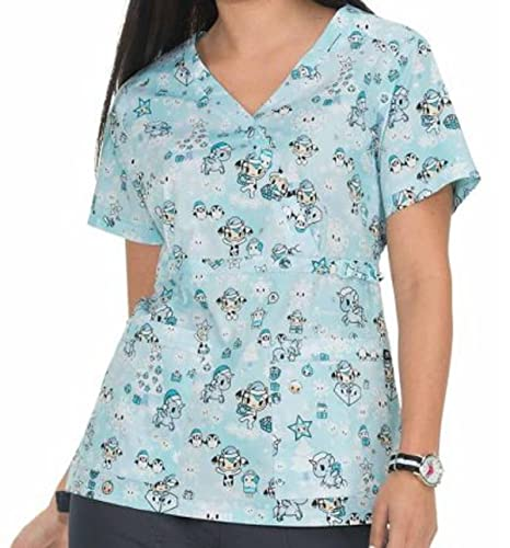 c7c24bf012e Amazon.com: 289TKD SYT S Koi Women's Nurses Medical Uniform Scrub Stretch  Luna tokidoki Top Snowy tokidoki: Everything Else