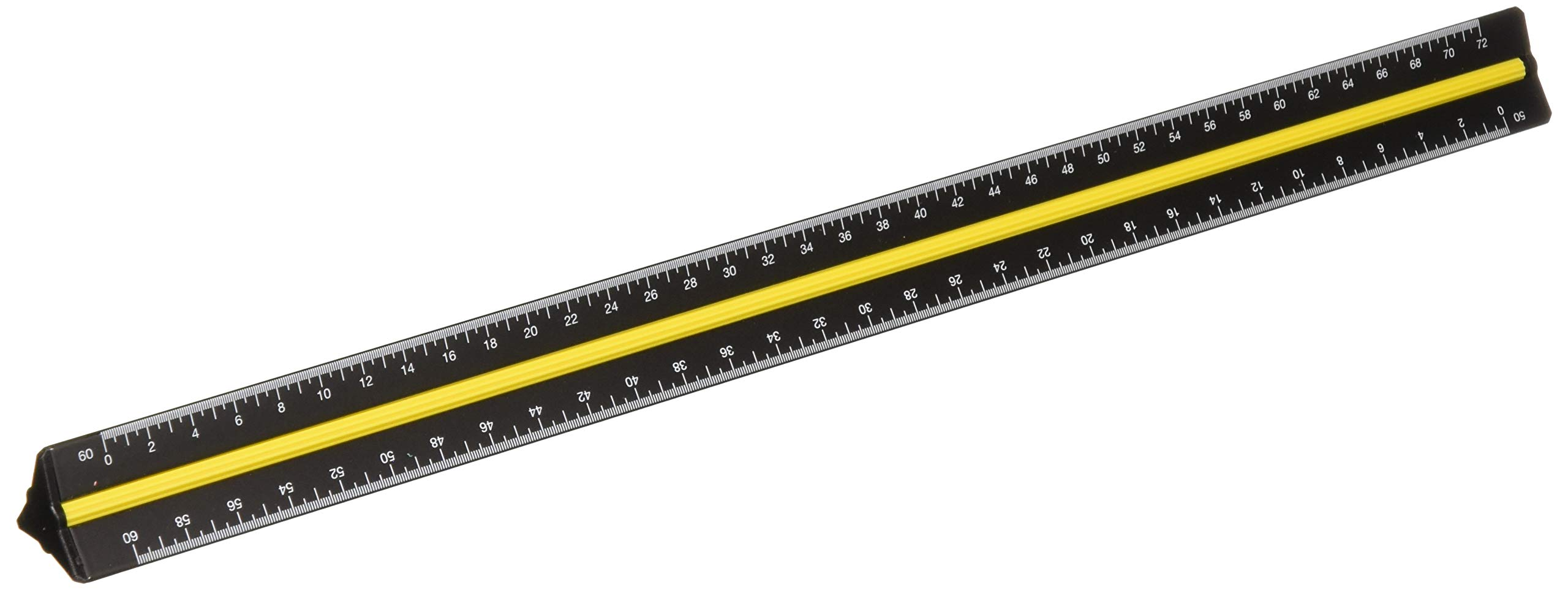 Alvin 98/ENG 12'' Black Aluminum Engineer Triangular Scale by Alvin