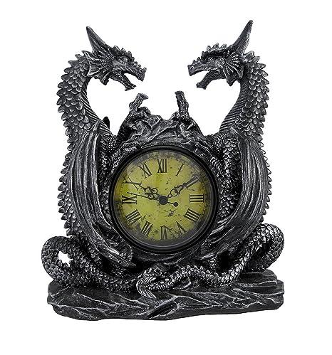 Amazon.com: individual Evil Dragones Antiqued Reloj de mesa ...
