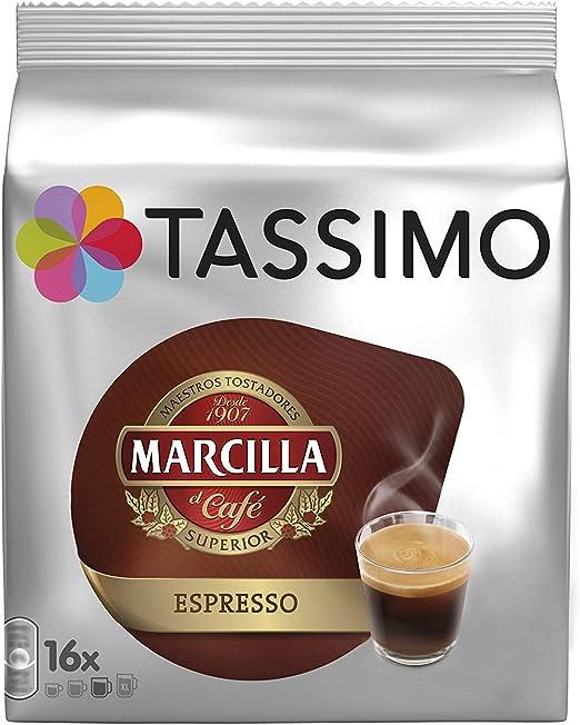 Tassimo Café Marcilla Expresso - 80 Cápsulas (T DISCs) compatibles con cafeteras Tassimo Bosch - 5 Paquetes de 16 Unidades: Amazon.es: Alimentación y bebidas