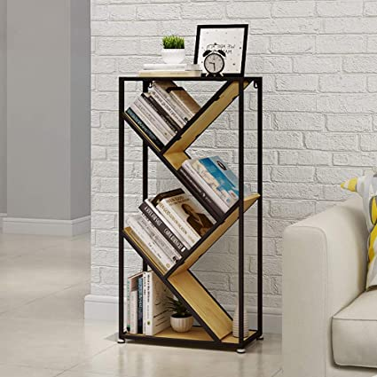 PLLP Household Tablecloth Coffee Table TableclothBookshelf Industrial Wind Iron Art Shelf Vintage Bookcase