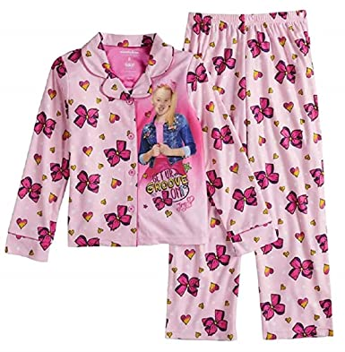 4f228d6ed Amazon.com  JoJo Siwa GET UR Groove ON Button Front Flannel Pajama ...
