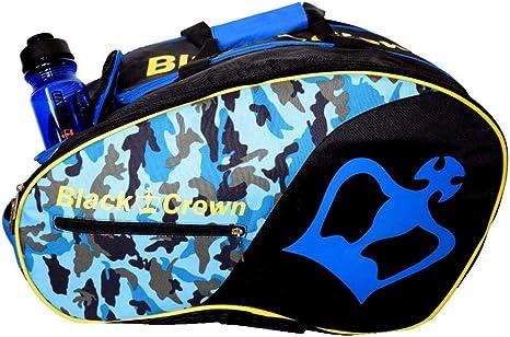 Paletero Tron Azul Militar | Bolsa de Pádel | Black Crown: Amazon ...