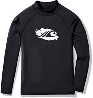 81ed26f788fe4 Amazon.com: Kanu Surf Boys' Platinum Rashguard: Rash Guard Shirts ...