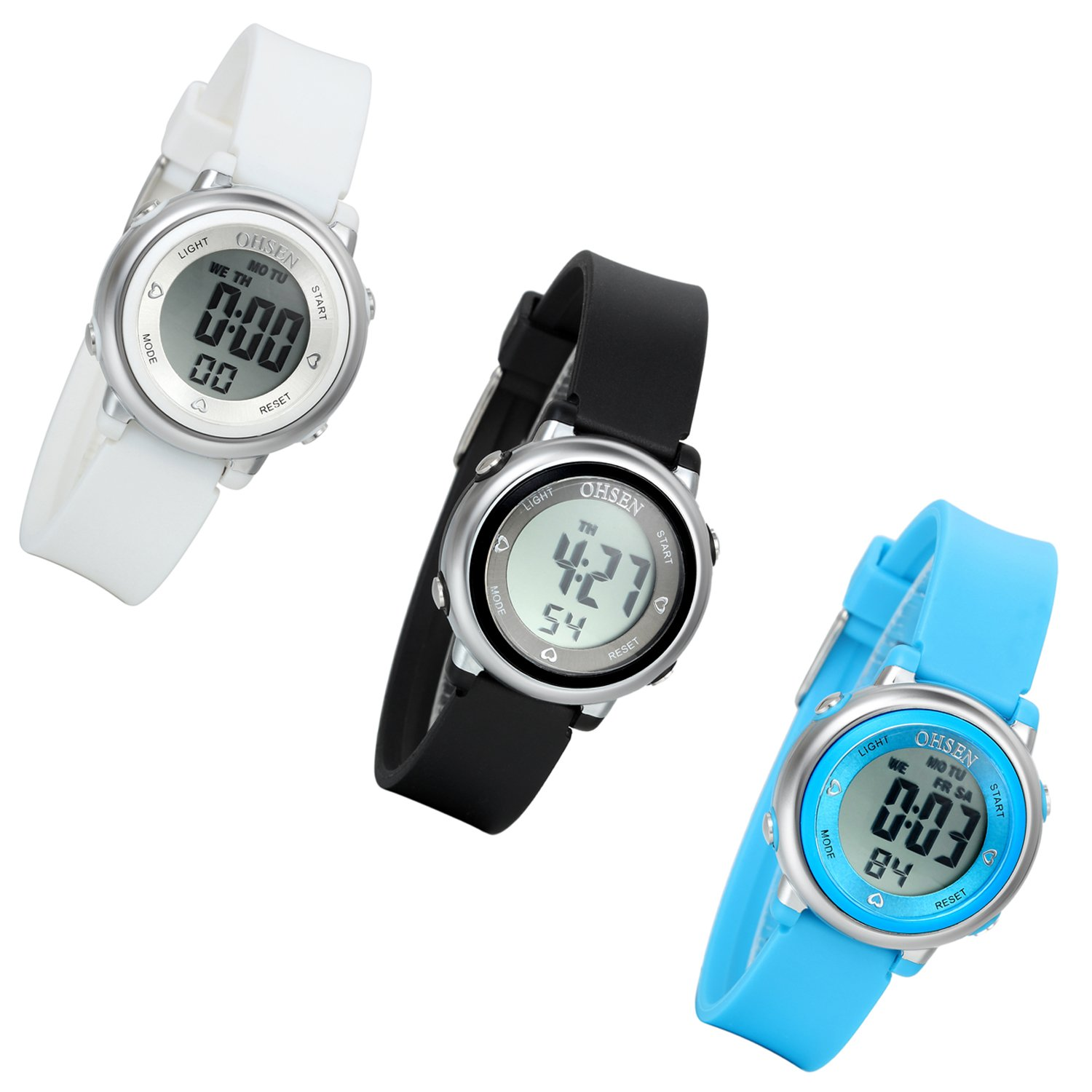 Lancardo Boy'S Girl'S 50M Waterproof Multi Function Digital Led Traning Sports Outdoor Watch(3Pcs) by Lancardo