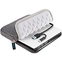 ROOFULL USB 3.0 Type-C Unidad externa de CD DVD con funda protectora de almacenamiento, bolsa de transporte, reproductor…
