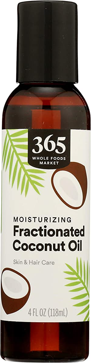 365 by Whole Foods Market, Aromatherapy Carrier Oil, Moisturizing Fractionated Coconut Oil (Skin & Hair Care), 4 Fl Oz