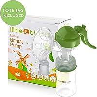 Extractor de leche de Silicona Littlebloom – Extractor leche materna 100% libre de BPA Manos Libres con Diseño Mejorado y Cómodo y con Tapas …