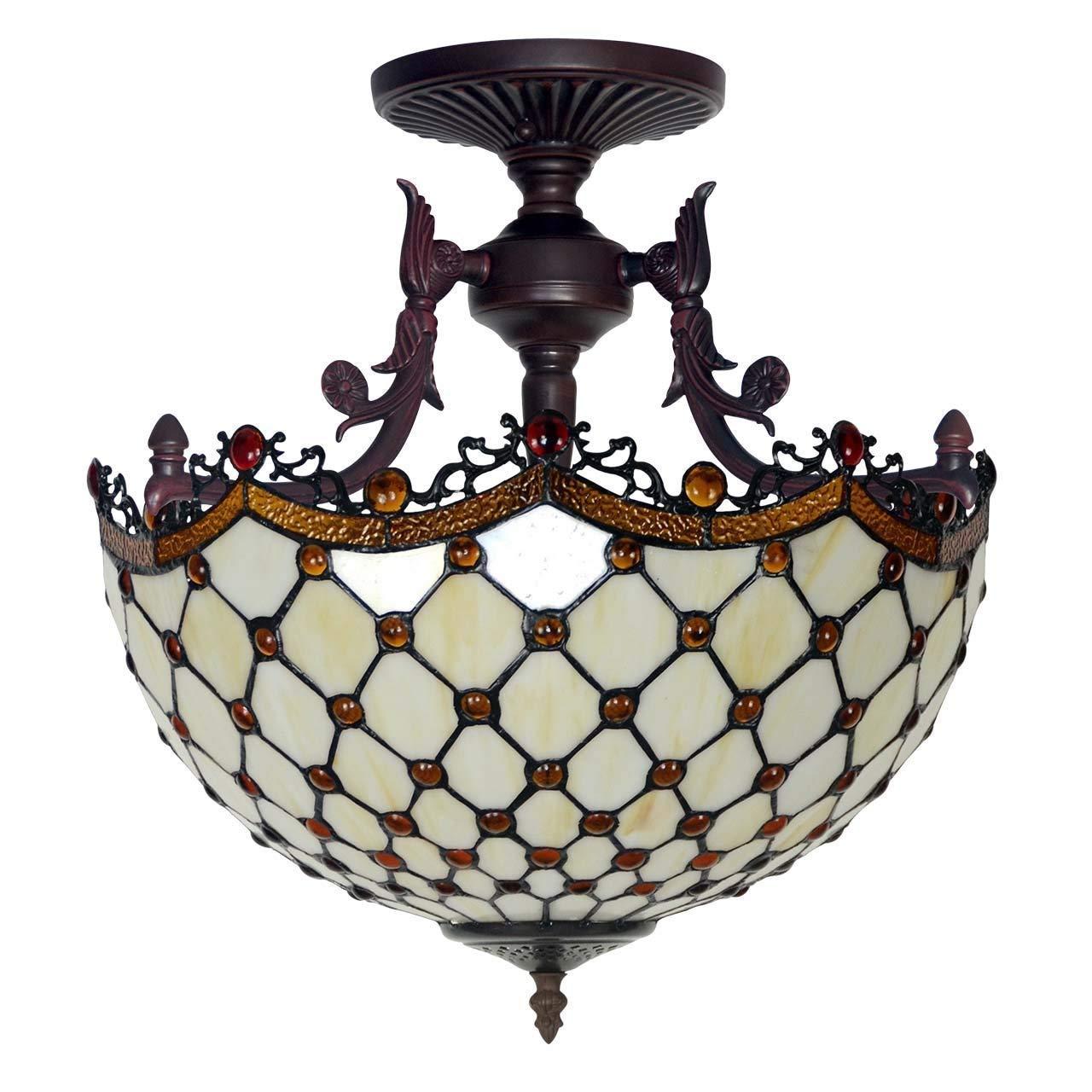 Zhang Yan ZYY Tiffany Vintage Lámpara de Techo Lámpara de ...