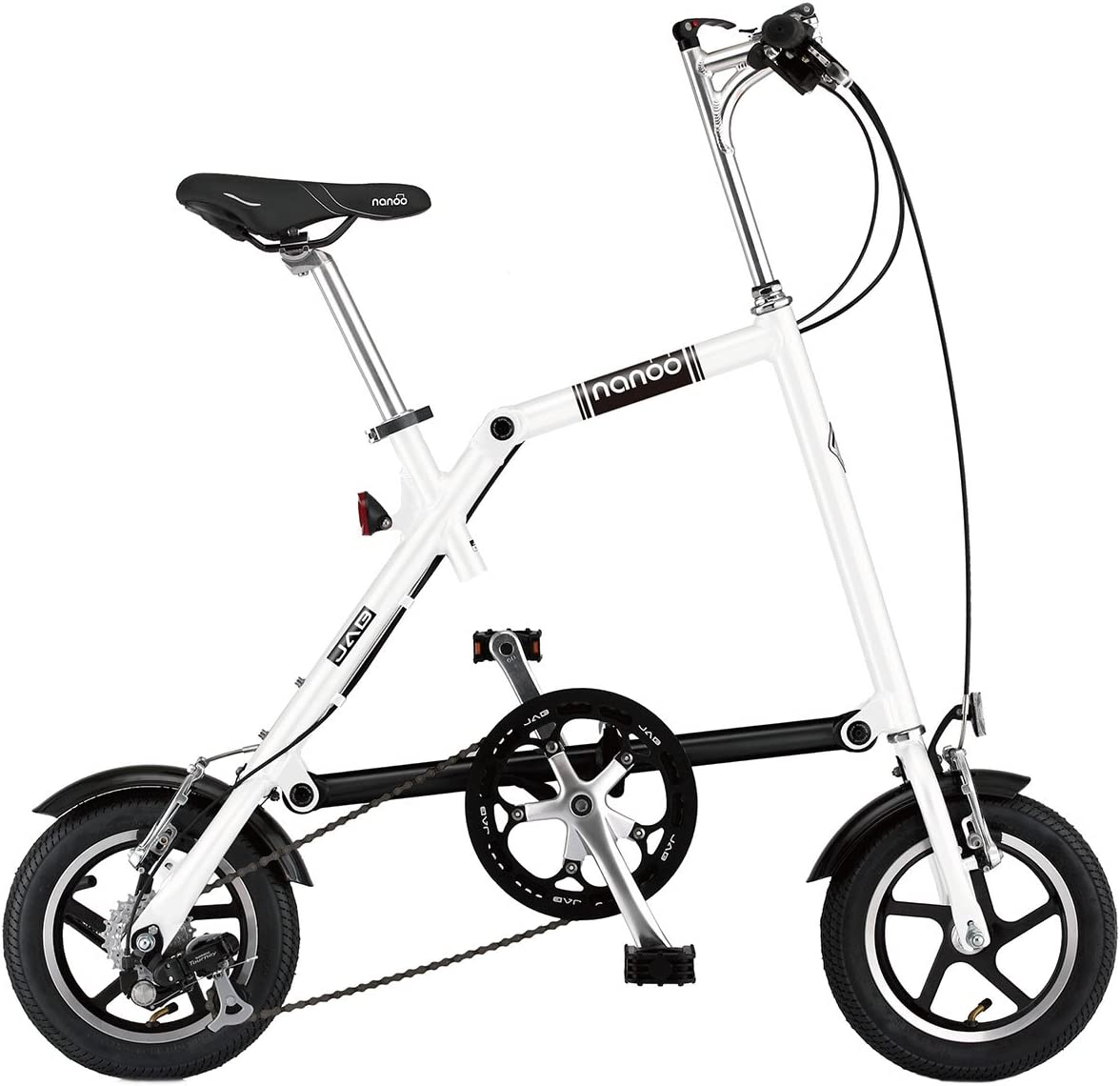 Nanoo FB12 Bicicleta plegable Nanoo Blanco: Amazon.es: Deportes y aire libre