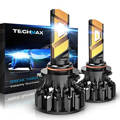 TECHMAX 9006 LED Headlight Bulbs,360 Degree Adjustable Beam Angle Cree Chips 12000Lm 6500K Xenon White Extremely Bright HB4 Conversion Kit of 2: Automotive