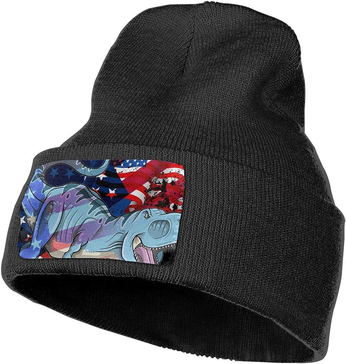 100/% Acrylic Acid Mas Beanie Hat Ruin Growling Dinosaurs Fashion Knitting Hat for Men Women