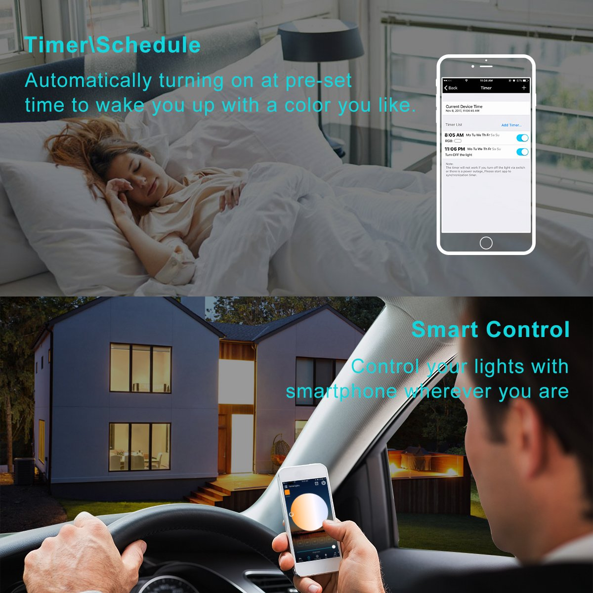 YiHong WiFi LED Controller for Strip Lights Smart Controller with Remote for LED RGB Light Strip Compatible with Alexa Google Home by YIHONG (Image #7)